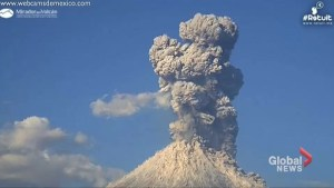 Dramatic video shows Mexico's Colima volcano erupting on Friday afternoon