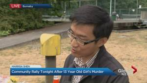 Vigil for teen homicide victim Marrisa Shen in Burnaby tonight