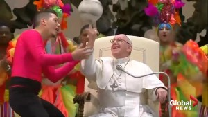 Pope Francis rings in 2019 by inviting Cuban circus performers on stage with him