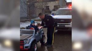 3-year-old boy gets a speeding ticket in Fort McMurray