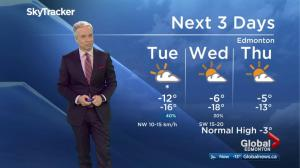 Early morning Edmonton weather forecast: Feb. 20