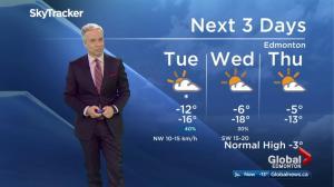 Early morning Edmonton weather forecast: Feb. 20