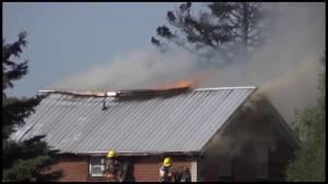 Fire razes house on Hollowtree Road in Cameron