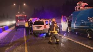 Global News Morning crew involved in crash (01:36)
