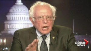 Bernie Sanders critical of Trump for not addressing social security, climate change