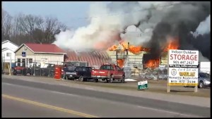 Bonter Marine, a landmark dealership in Marmora, destroyed by fire