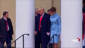 Donald Trump departs for the White House