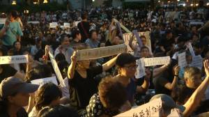 Thousands of Hong Kong mothers rally in support of young protesters
