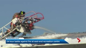 Battle against Agincourt Recreation Centre blaze goes into second day