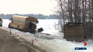 Teenage girl killed in Alberta school bus crash