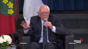 Bernie Sanders says U.S. politicians lie about Canadian healthcare