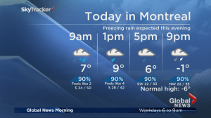 Global News Morning weather forecast: Friday, January 12