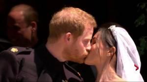 Royal Wedding: Prince Harry, Meghan Markle share first kiss