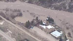 Global1 video shows flooding in Wayne, Alberta