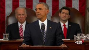 US president talks climate change during last State of the Union speech