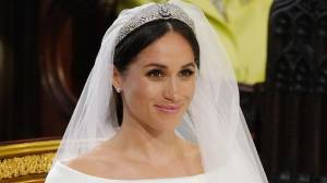 Royal Wedding: Meghan Markle's wedding dress revealed – and tiara too