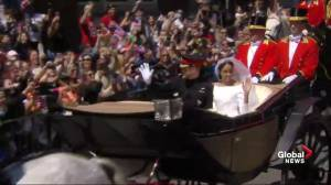 Royal Wedding: Thousands of cheering fans greet new royal couple