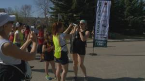 First-time female triathletes give it a go at the Makin' It Happen race