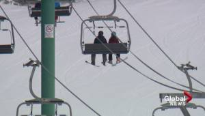 Boy falls off ski lift at Lake Louise