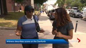 Witness describes Toronto Danforth shooting scene