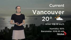 B.C. evening weather forecast: July 3