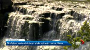 Hamilton fire fighter in hospital after six-metre fall at Albion Falls