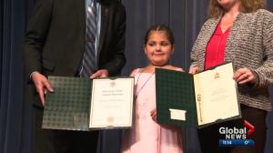 Terminally-ill 8-year-old Alberta girl experiences high school graduation