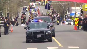 Police hold funeral procession in Victoria for Cst. Ian Jordan