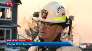 Cochrane fire chief gives update on Wednesday's blaze