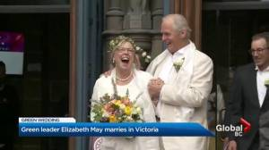 Green Party Leader Elizabeth May weds on Earth Day