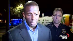 Andrew Gillum reacts to Florida yoga class shooting