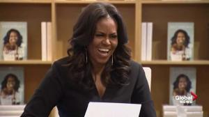 Adults, children line up to meet Michelle Obama on her 'Becoming' book tour in Chicago