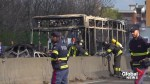 Italy school bus driver sets fire to vehicle to protest treatment of migrants