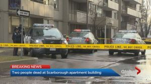Discovery of 2 bodies at Scarborough apartment building being treated as possible murder-suicide