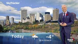 Edmonton early morning weather forecast: Monday, November 5, 2018