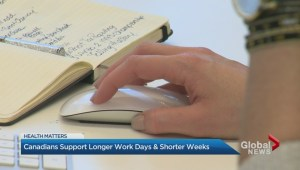 New poll finds Canadians support longer work days and shorter weeks