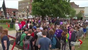 Students in Woodstock march out of class to protest spike in teen suicides