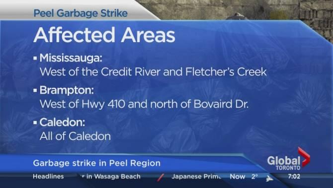Peel Region Garbage Strike Affecting Service In Brampton Mississauga And Caledon Toronto Globalnews Ca