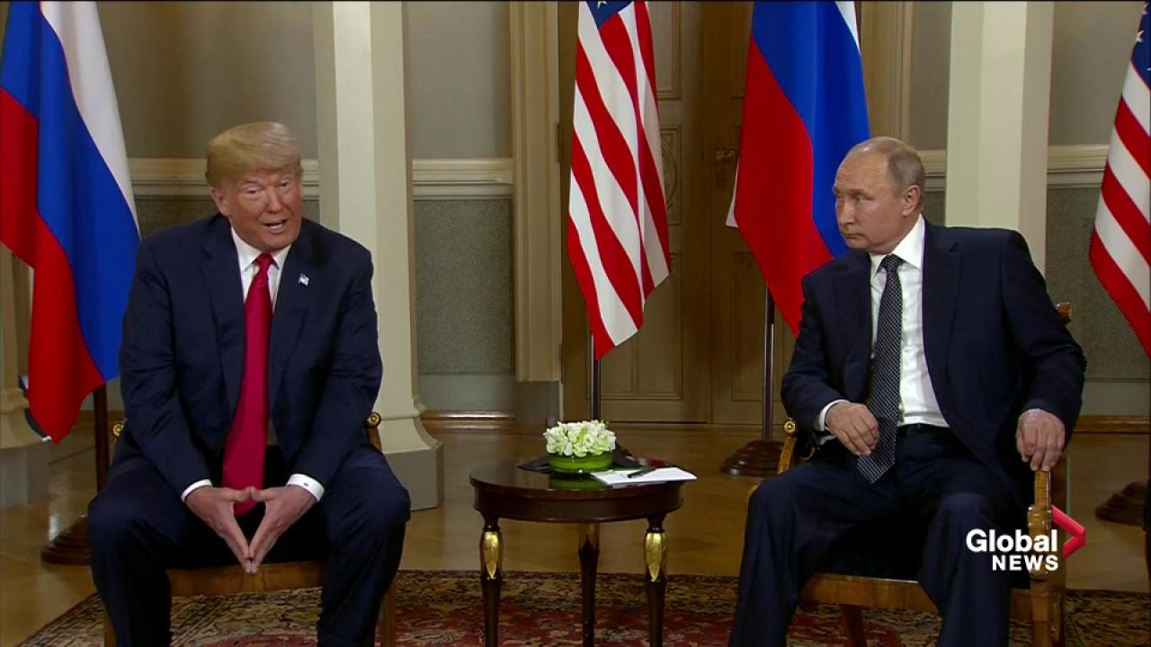World Cup host Putin gives Trump a ball
