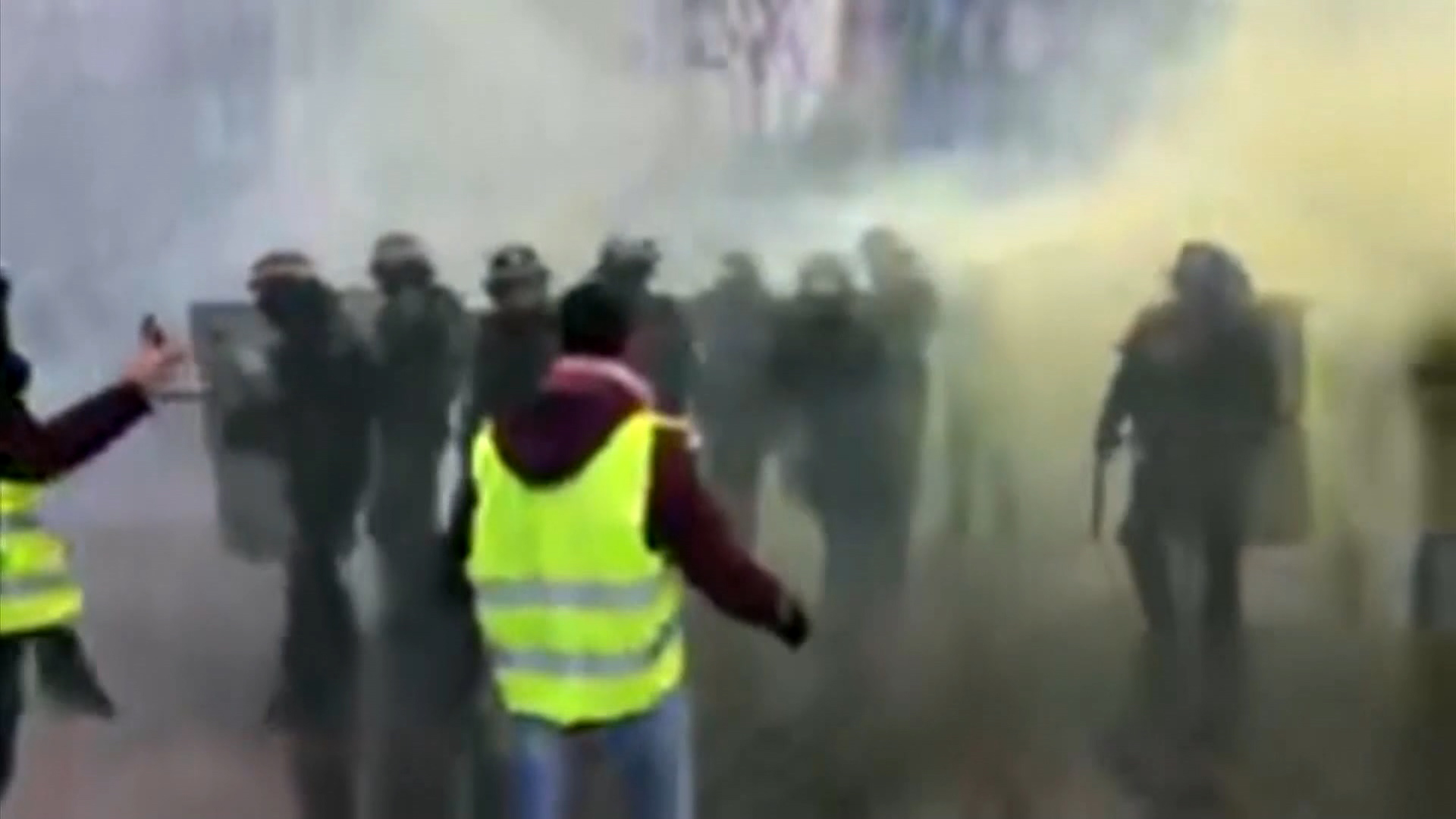 Protesters angry about rising taxes clash with police in Paris, 81 arrested