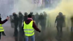 Police use tear gas as protests rage against rising fuel prices in France
