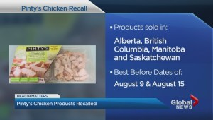 Pinty's chicken products recalled