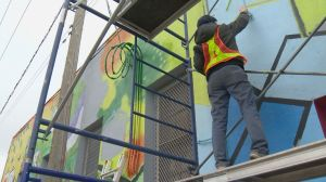 Moose Jaw Pride paints historic mural