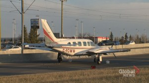 Pilot and passengers safe after plane's emergency landing on Calgary roadway