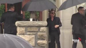 David Spade enters church ahead of Kate Spade's funeral