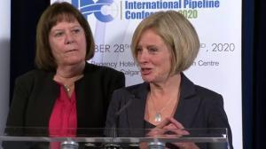 Alberta Premier Rachel Notley speaks at Calgary pipeline conference