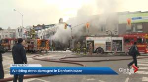 Wedding dress anxiety after Danforth fire