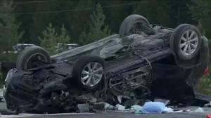 Crash closes Coquihalla Highway south of Merritt
