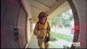 California man watches firefighters save his home through his doorbell camera – then gets to thank them