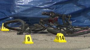 45-year-old cyclist dead after hit by dump truck